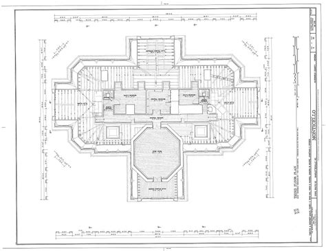 jefferson floor plan monticello top floor architectural floor plans