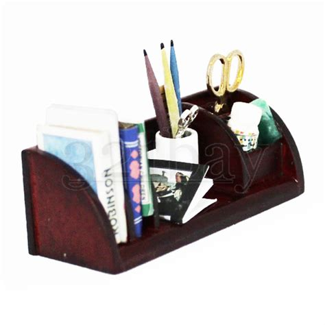 office desk accessory sets 1to12 wooden miniature office desk accessories scissors pen pencils pen holder ebay