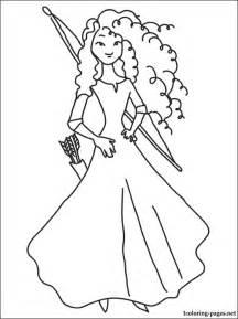 princess merida coloring coloring pages