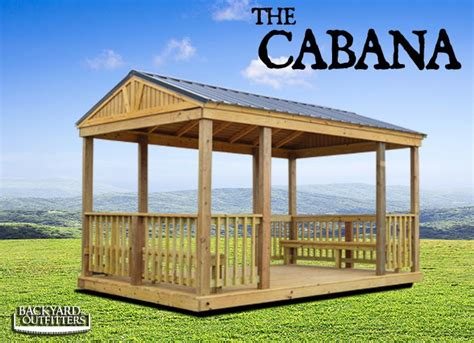 backyard outfitters inc outdoor cabanas of all sizes at backyard outfitters inc