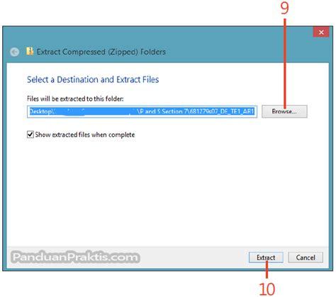 cara membuat file zip di windows 8 cara mengkompres zip dan mengekstrak file di windows 8 1