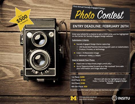 Giveaway Photo - photo contest 550 in prizes center for socially engaged design