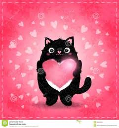 happy valentines day card with cat and stock photo image 36406920