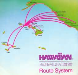 the timetablist hawaiian airlines route map 1987