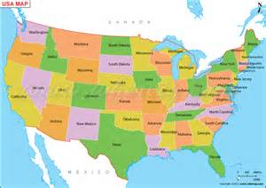 Map Of Usa With States Usa Map Bing Images