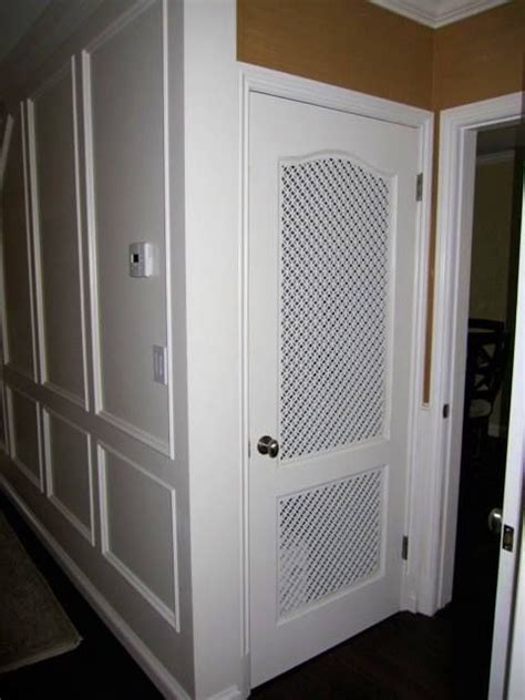 Six Panel Solid Wood Interior Doors What A Cool Idea Custom Vent Panels For A Pantry Door
