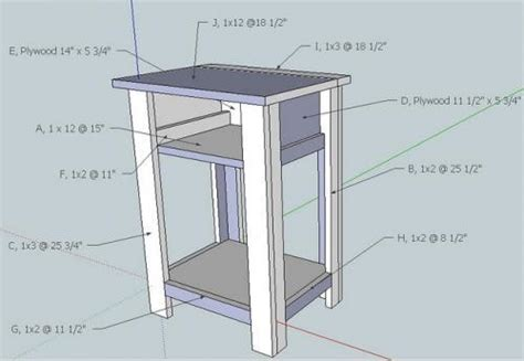 Nightstand Measurements by White Build A Simple Nightstand Diy Projects