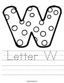 letter w worksheet twisty noodle