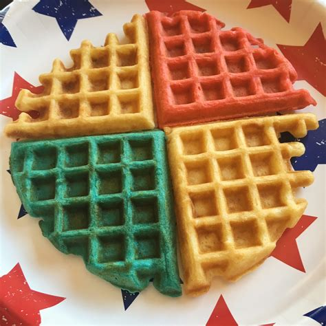 blue colored waffles tasty tuesday white and blue fruity waffles guest