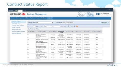 Vermont Legislative Report Template Contract Management With Sharepoint And Office365