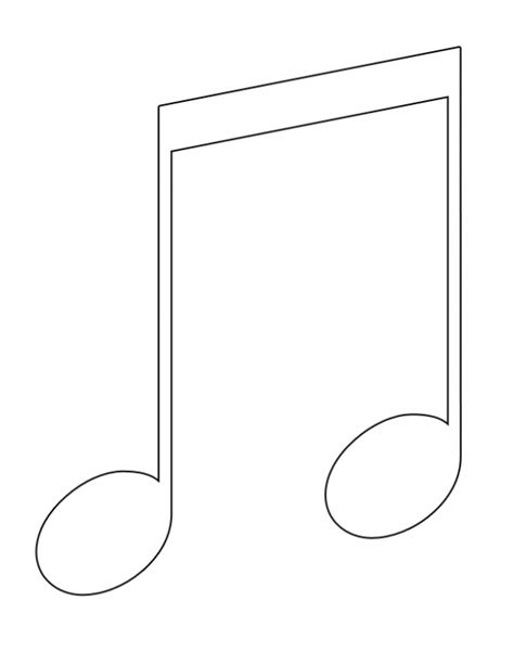 Music Note Symbol Coloring Pages Images Quarter Note Coloring Page