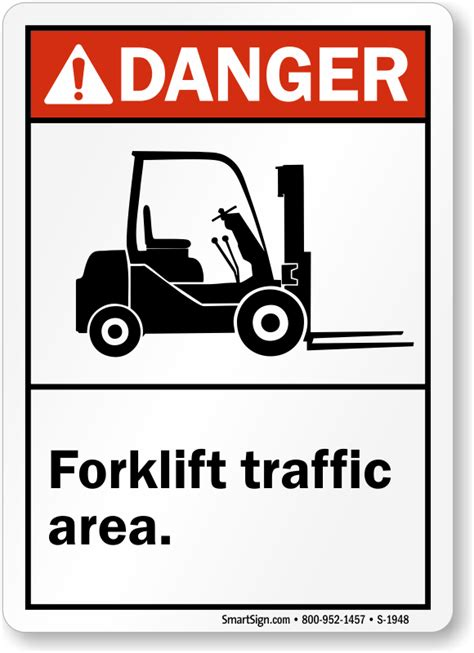 Sticker Safety Sign Forklift Traffic Area Free Shipping On Ansi Danger Forklift Traffic Area Sign