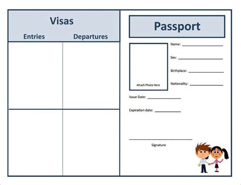 activity pass card template best 25 passport template ideas on passports