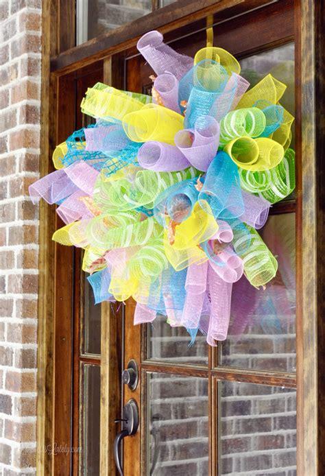 super easy diy deco mesh wreath lamberts