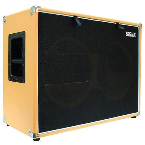 empty orange tolex 2x12 quot guitar speaker cab cabinet 212