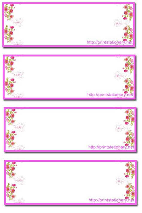 gram card template free printable address labels 6