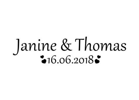 Herz Aufkleber Mit Namen by Autoaufkleber Hochzeit Herzen Mit Namen Und Datum