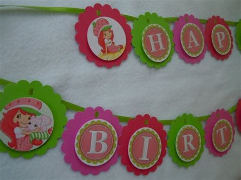 strawberry shortcake printable birthday banner 104 best images about victoria s birthday ideas on