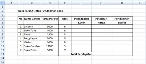 membuat tabel sederhana dengan html membuat tabel di excel dengan menggunakan rumus