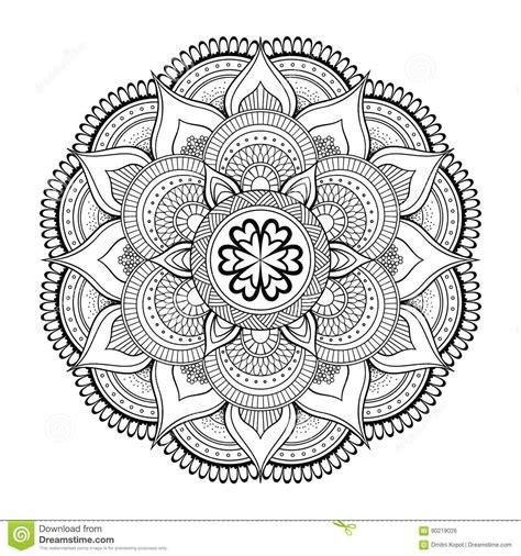 decorative vintage pattern with floral elements vector mandala round ornament pattern vintage decorative