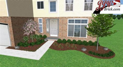 Simple Front Yard Landscaping Ideas Simple Low Maintenance Front Yard Landscaping For A New Construction Home In Shelby Twp