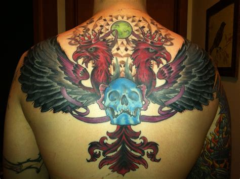 shoulder piece tattoos for men progress on my back finished covering bad shoulder