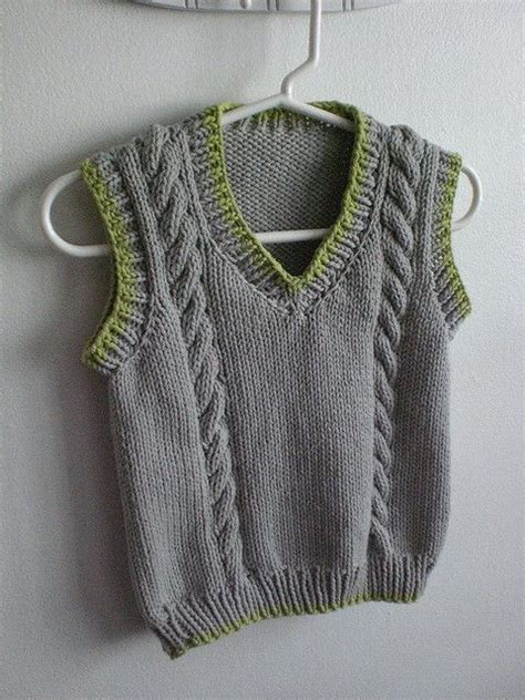knitted vest patterns free free pattern knitting boys cable boys and