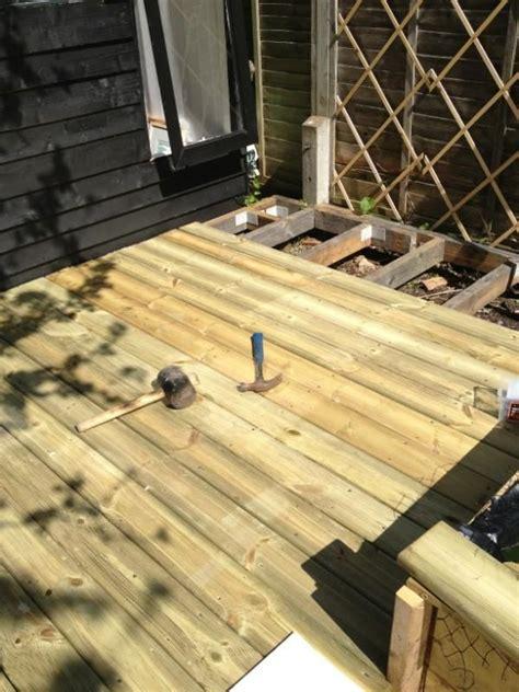 scaffold board ideas wood patio deck design garden