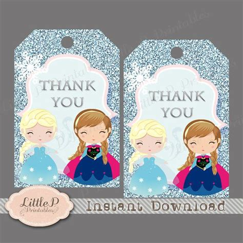 printable frozen thank you tags frozen thank you tag frozen favour tag instant download