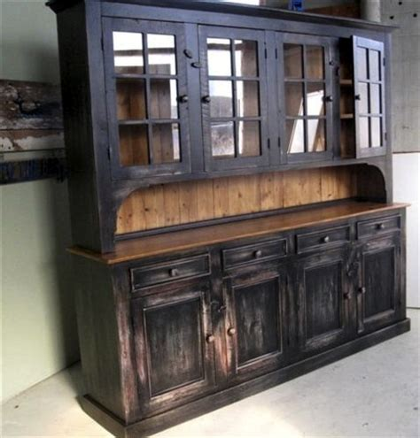 Custom Rustic Dining Room Hutch   ECustomFinishes