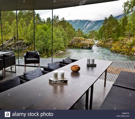 ex machina hotel juvet landscape hotel valldal norway stock photo