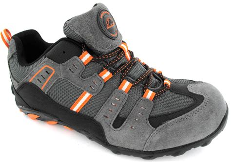 sport steel toe shoes mens steel toe cap trainers new lightweight safety sport