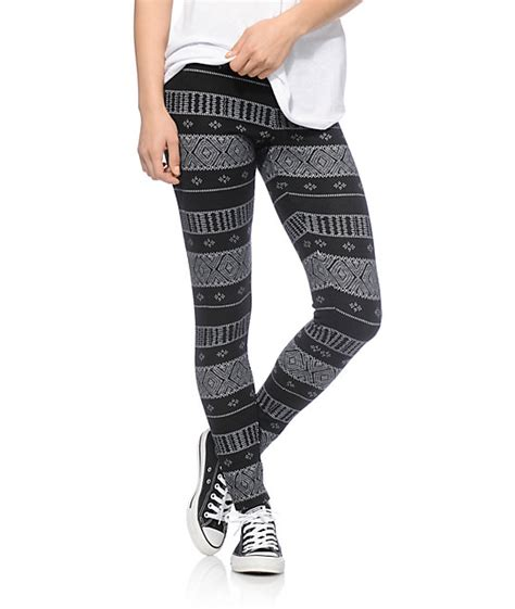 Black White Sweater Tribal empyre black white tribal sweater at zumiez pdp
