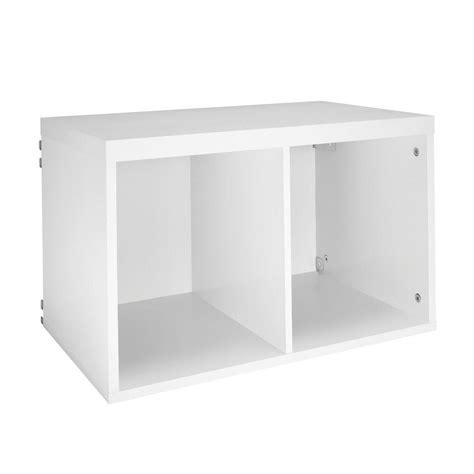 Closet Cube Organizer Closetmaid Elite 23 3 5 In X 14 5 8 In White 2 Cube