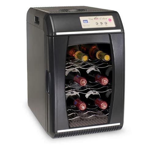 Countertop Wine Fridge by The Cellar 9 Bottle Countertop Portable Wine Cooler Black