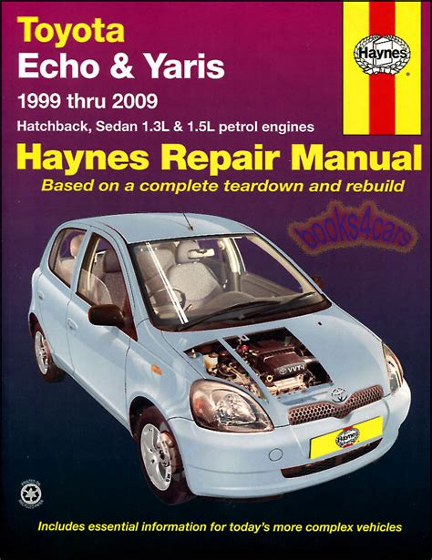 toyota echo yaris shop manual service repair book haynes vitz chilton workshop ebay