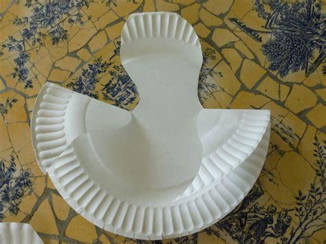 Paper Plate Seagull Craft - preschool summer bird craft paper plate seagull local