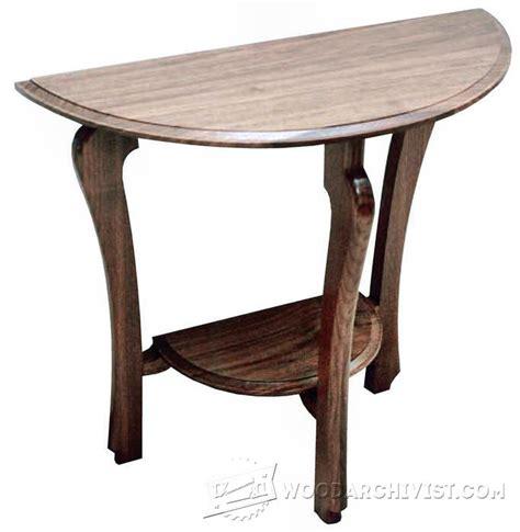 Half Table by Half Moon Table Plans Woodarchivist