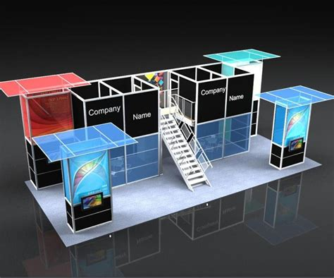 booth design build expo booth heavy duty double deck booth exhibition booth