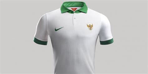 Jersey Lokal Timnas Indonesia Away Putih Kerah Hijau Premium 1 ini detail quot jersey quot baru timnas indonesia kompas