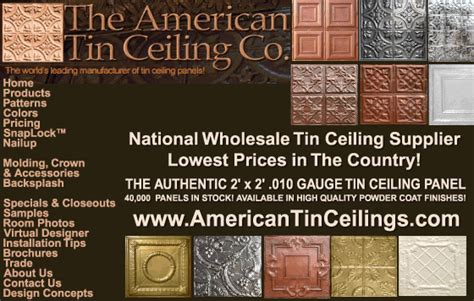 Designer Wall Tiles the american tin ceiling co