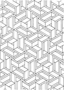 Coloriage Illusion D Optique 8 Coloriages 224 Imprimer Optical Illusions Colouring Pages