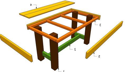 come costruire un tavolo da giardino in legno