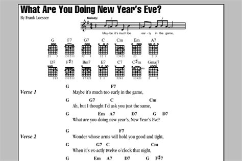 new year songs lyrics guitar chords what are you doing new year s sheet direct