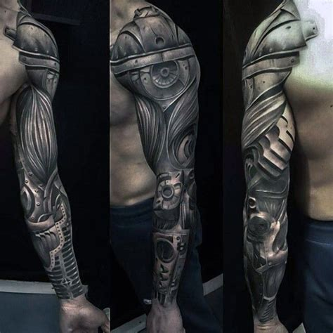 badass tats shoulder designs for superior detailed biomechanical arm of whole