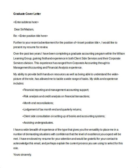 Finance Cover Letter Graduate 9 finance cover letters free sle exle format free premium templates