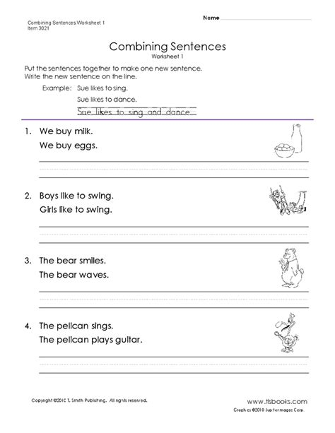 Combining Sentences Worksheet combining sentences worksheet 1 reading