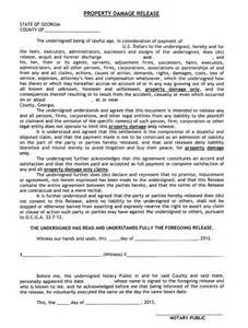 property damage release form template release of liability property damage