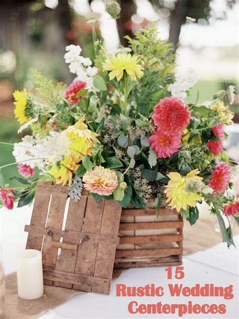short rustic centerpieces