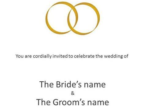 powerpoint invitation templates bold wedding invitations
